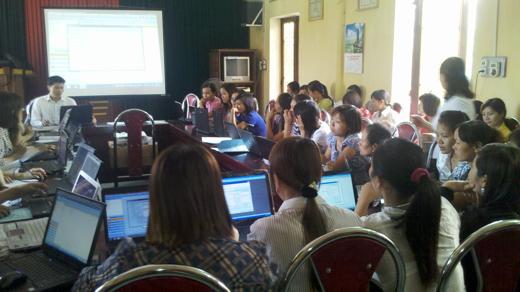 Tập huấn phần mềm tại phòng GD&ĐT huyện Phú Xuyên