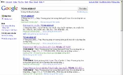 Tìm kiếm tiêu chuẩn trên google